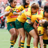 Women's Rugby League World Cup: Australian Jillaroos hold off gallant New Zealand Ferns to win final