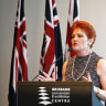 Hanson tells faithful One Nation has candidates in most Queensland electorates