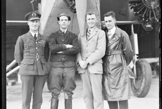 Crew of the Southern Cross, Charles Kingsford Smith, Charles Ulm, H. A. Litchfield, T. H. McWilliam, NSW, ca. 1931