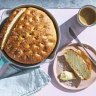 No knead for baking skills to make Adam Liaw's four-ingredient focaccia