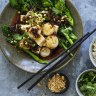 Neil Perry's spicy steamed scallops and tofu