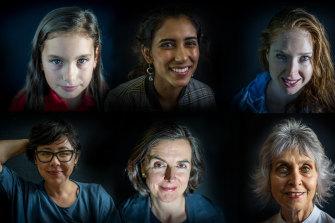 Laura Guerschman, 10, Tanvi Nangrani, 18, Ashleigh Feltham, 29, Maylee Thavat, 41, Fiona Smith du Toit, 50 and Claudia Hyles, 71.
