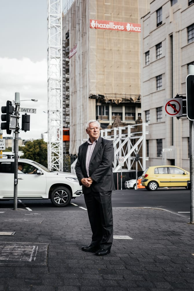 Brian Corr is head of Hobart Not Highrise, a lobby group fighting proposed city skyscrapers.