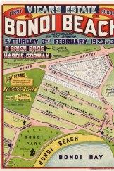 Bondi Beach subdivision map marks its development into the beachside suburb of today.