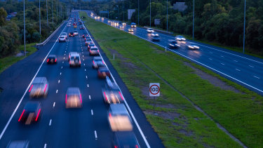 Average speed cameras will be installed on the Pacific Motorway (pictrured), the Gateway Motorway and Toowoomba Second Range Crossing.