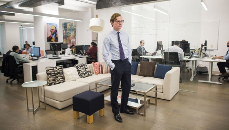 Cambridge Analytica CEO Alexander Nix at the company's New York office.