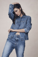 Denim jacket and jeans by Bassike.