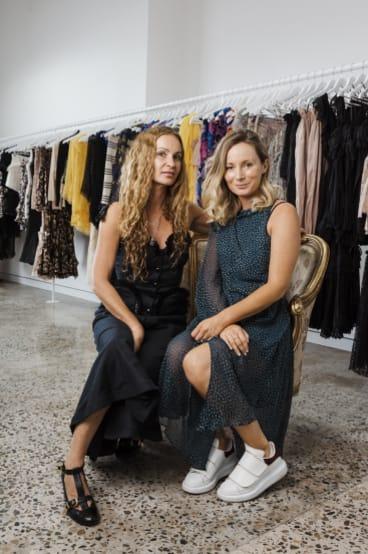 Alice (left)and Bridget McCall, in the Alice McCall studio.