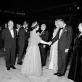 Queen Elizabeth II shakes Gough Whitlam's hand at Sydney Airport in 1970.