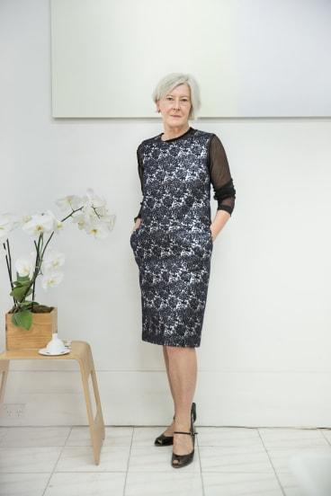 Rosslyn Piggott wearing her favourite Minä Perhonen piece.