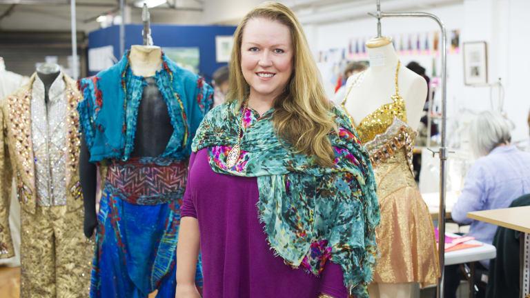 Janet Hine, costume supervisor for Aladdin's Australian tour.