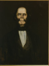 Painting of William Buckley, c1890 to 1910, based on an 1852 lithograph by Ludwig Becker.