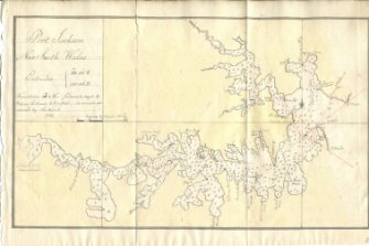 1788 chart drawn by William Bradley showing Bloody Point.