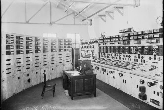 Operations room in the White Bay Power House in the 1920s.