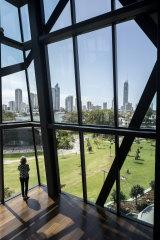 HOTA interiors with Gold Coast views.