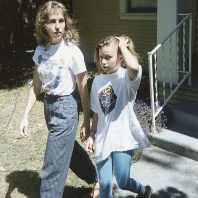 With Chrisann in the early 1990s.