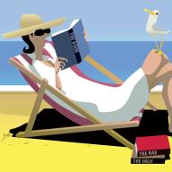 Summer reads illustration by Matt Davidson.