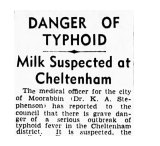 The milk supply was suspected early on. The Age, March 17, 1943.