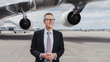 Sydney Airport chief executive Geoff Culbert says the technology will allow your face to 'be your passport'.
