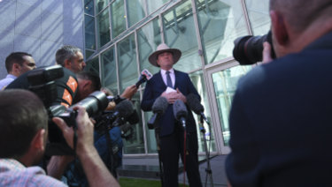 Barnaby Joyce came out swinging on Friday.