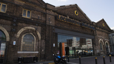 The old Locomotive Workshop at Eveleigh.