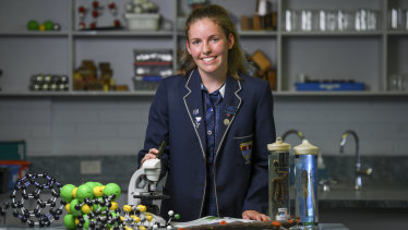Year 10 Avila College student Beatrice van Rest is passionate about science
