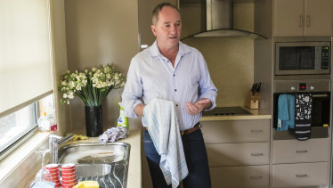 Barnaby Joyce at his home in Armidale on Wednesday.