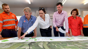 Ms Palaszczuk in Mackay outlining Labor's plans for the Bruce Highway.