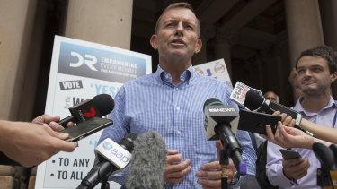 Tony Abbott has spoken out again.