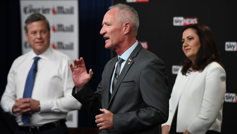 One Nation state leader Steve Dickson as the leaders debate on Thursday night.