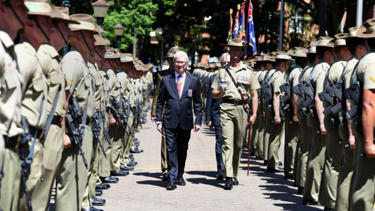 The Governor inspecting the guard.