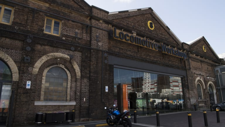 The old Locomotive Workshop at Eveleigh.