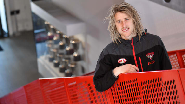 Dyson Heppell will lead the Bombers again in 2018.