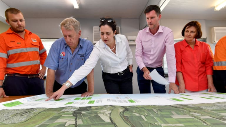 Queensland Premier Annastacia Palaszczuk in Mackay outlining Labor's plans for the Bruce Highway.