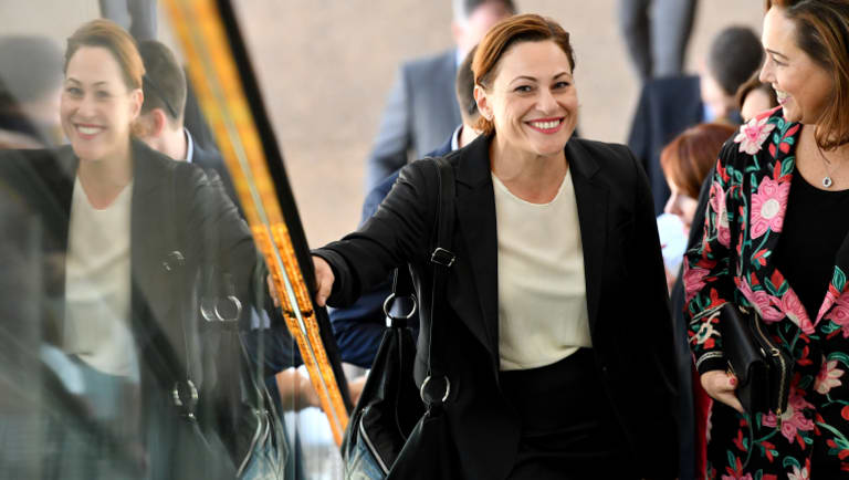 Deputy Premier Jackie Trad says the beleaguered Next Generation Rollingstock trains will be on the tracks by the end of the year.