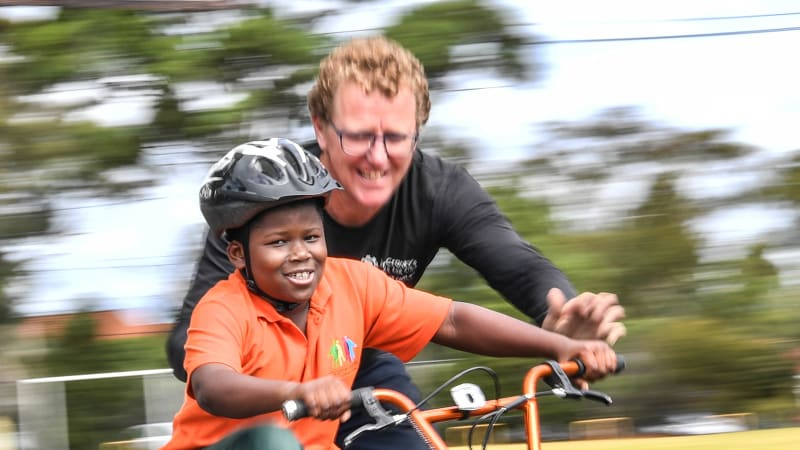 The volunteer bike program that's wheely good for kids