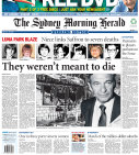 Front page of the Sydney Morning Herald in 2007 revealing claims of links between the ghost train fire and underworld figure Abe Saffron.