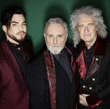 Adam Lambert (left) with Roger Taylor and Brian May.