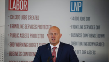 Treasurer Curtis Pitt releasing Labor's costings on Thursday afternoon.