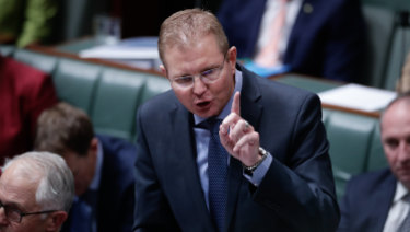 "Workplace Minister Craig Laundy said it was ""not unreasonable"" for the commission to ask if it was in the best interests of the country to have several law-breaking unions consolidate their power."