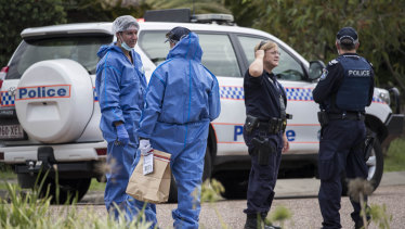 Forensic officers were expected to remain at the scene throughout Sunday afternoon.