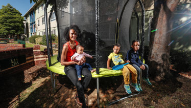 Sara Gebrehiwot's children Freweyni, Amaniel and Isaiah won't be able to play on the trampoline anymore.