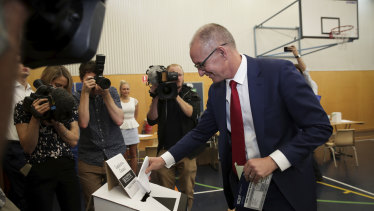 Jay Weatherill cast his vote on Saturday at a local school. But his survival is no 'slam dunk' asking voters to grant Labor a staggering fifth straight term.