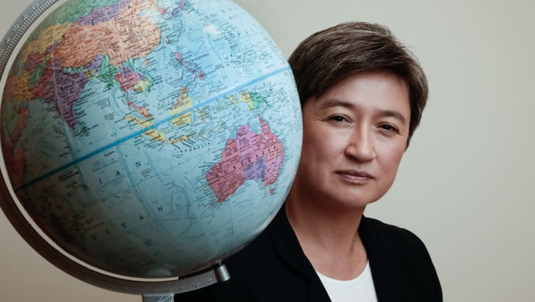 """""""I think you're always better off seeking co-operation than seeking contest. And what do we think is right for Australia?"""": Penny Wong."""