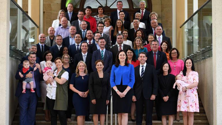Queensland Labor's caucus has 25 men and 23 women.