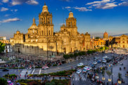 satapr20mexico mexico cityMetropolitan Cathedral ; text byKristie Kellahan ; credit: Shutterstock *** REUSE PERMITTED ***MEXICO CITY, MEXICO - DECEMBER 31, 2018 Metropolitan Cathedral and President's Palace in Zocalo, Center of Mexico City