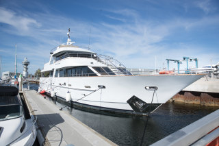 Eagle One, a 28 metre yacht owned by David McAuliffe's family