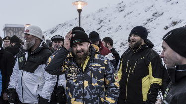 Ramzan Kadyrov, the leader of Chechnya, opens a new ski resort in Veduchi, Russia. A state-owned company has spent millions on this ski resort and others.