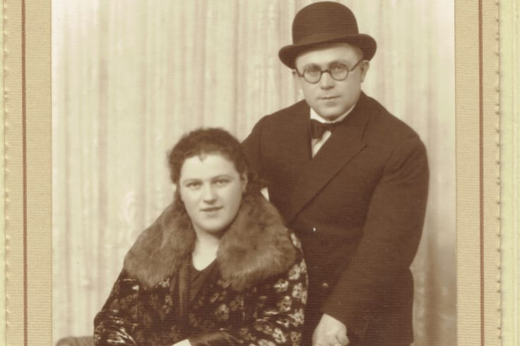 The newlyweds: Abraham Rudov, then 26, and Esther, 19, shortly after they arrived in Melbourne in 1926.