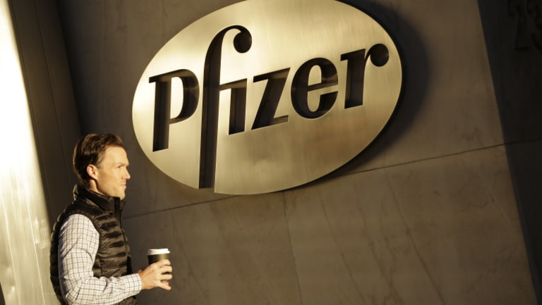 Pfizer's world headquarters in  New York. The pharmaceutical giant pulled out of the search for an Alzheimer's cure in January.